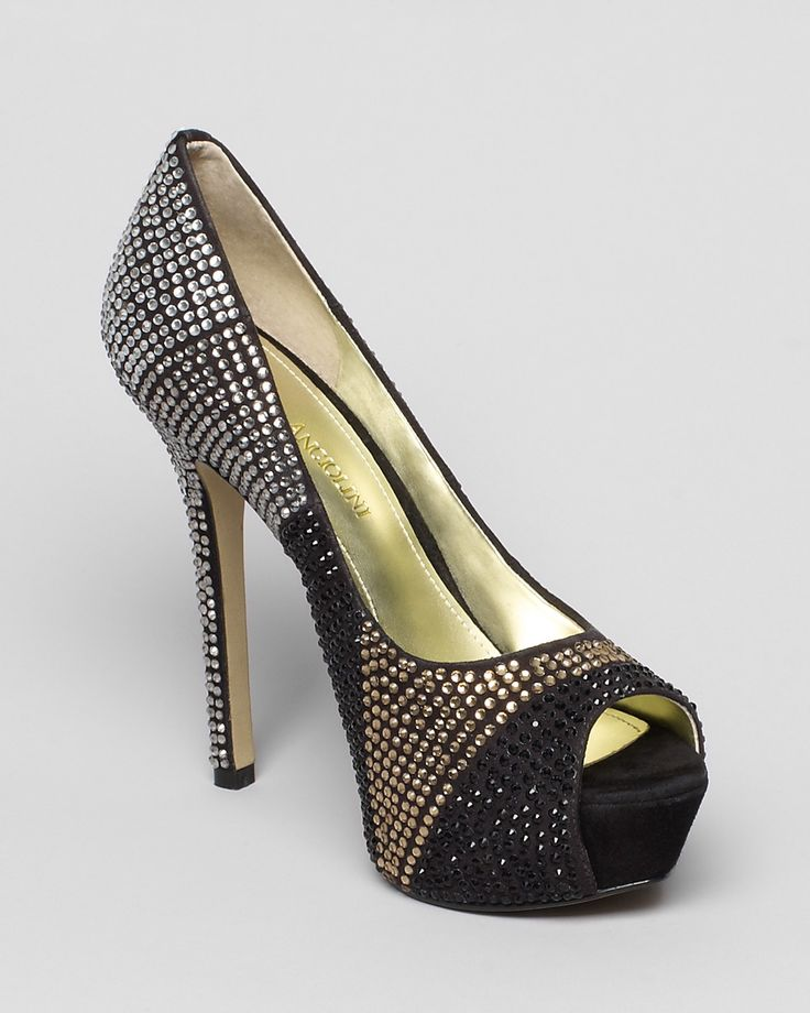wedding #shoes #heels great for a #black #grey #or #gold #wedding