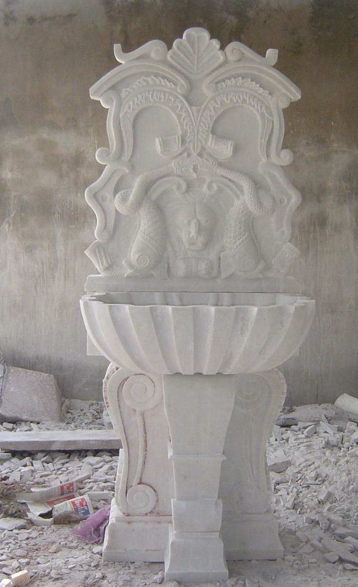 best of wash basin of hand made carving used base of white indian marble.