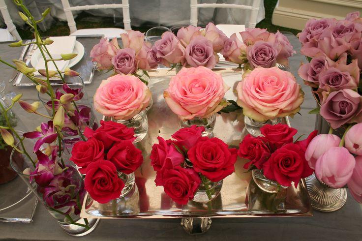 Summer Garden Wedding Different Shades Roses