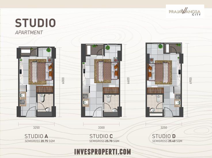 Tipe Studio Apartemen Prajawangsa City