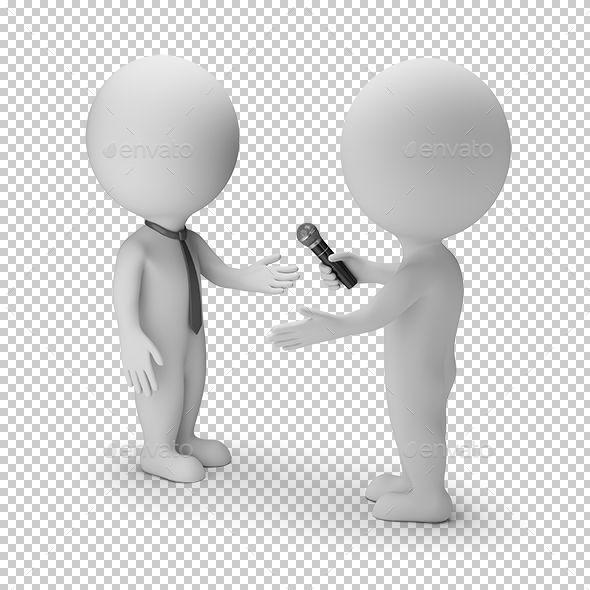 3d Small People Interview Sculpture Lessons Interview Design Template