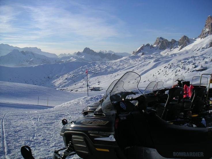 Un bel panorama dalle vette di Cortina