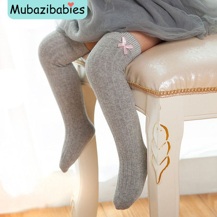 >> Click to Buy << Spring Autumn Candy Color Baby Socks Bow Princess Child High Knee Cotton Baby Girl Socks Boutique Toddler Knee High Socks #Affiliate