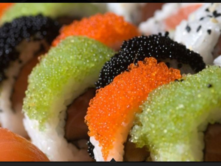 All kinds of sushi....