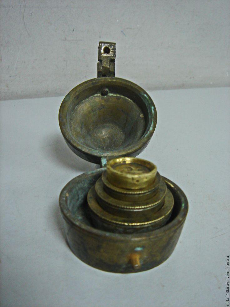 Купить Старинные разновесы. Набор. 1895 год - золотой, старинные вещи, антиквариат, весы, в коллекцию, подарок