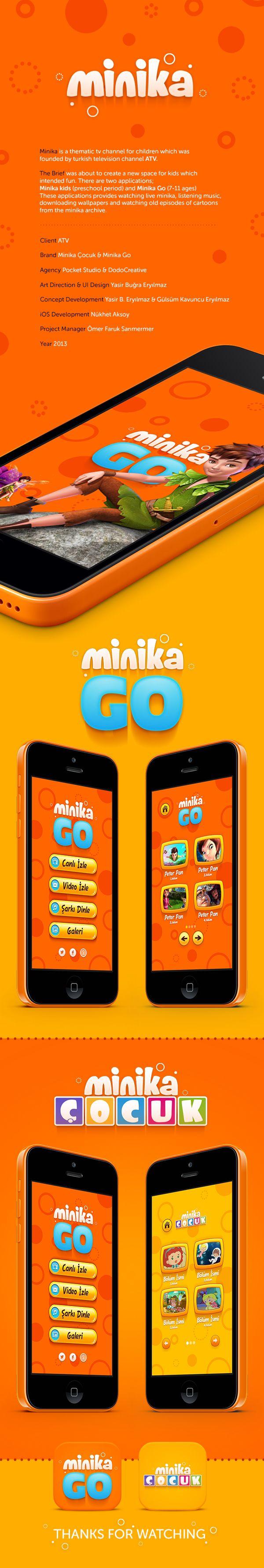 Minika App by Yasir Buğra Eryılmaz, via Behance