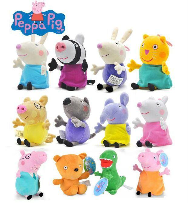 19cm Original Peppa Pig 13cm Peppa George Family Doll 8 Friend
