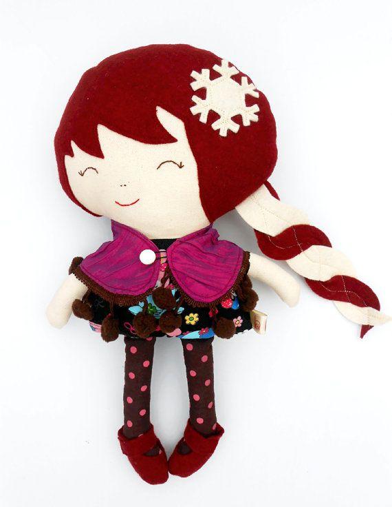 FABRIC DOLL, princess from Frozen Kingdom, snow sister doll, rag doll, dolls, large doll, dollsanddaydreams, toys, cloth dolls, dress up doll, handmade dolls,