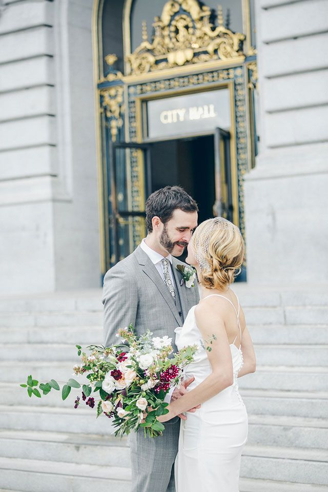 A City Hall Wedding In San Francisco Followed By Laid Back Reception With