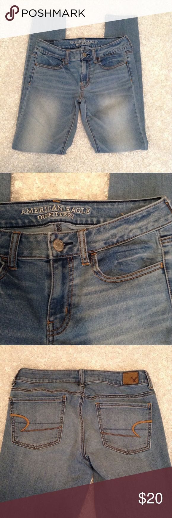 American Eagle Jegging light wash jeans 6 long Worn a few times, soft and comfy, no flaws, no trades, open to offers, discount on bundles ❤️ American Eagle Outfitters Jeans Skinny