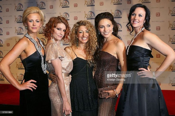 Cast members of McLeod's Daughters arrive at the 48th Annual TV Week Logie Awards at the Crown Entertainment Complex May 7, 2006 in Melbourne, Australia. Rachael Carpani, Simmone Jade MacKinnon, Doris Younane, Zoe Naylor