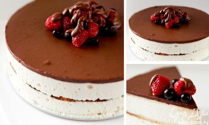 """Торт """"Птичье молоко"""". Идеальный рецепт знаменитого российского десерта. #edimdoma #recipe #cookery #cake"""