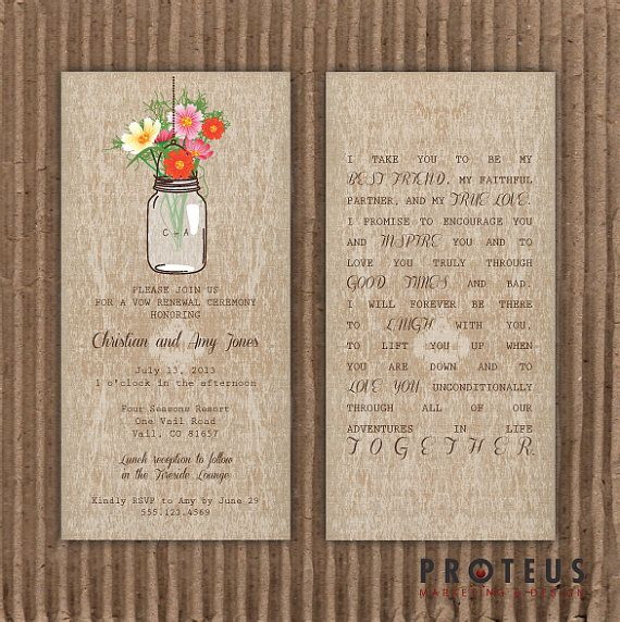 17 Best images about Wedding renewal invitations