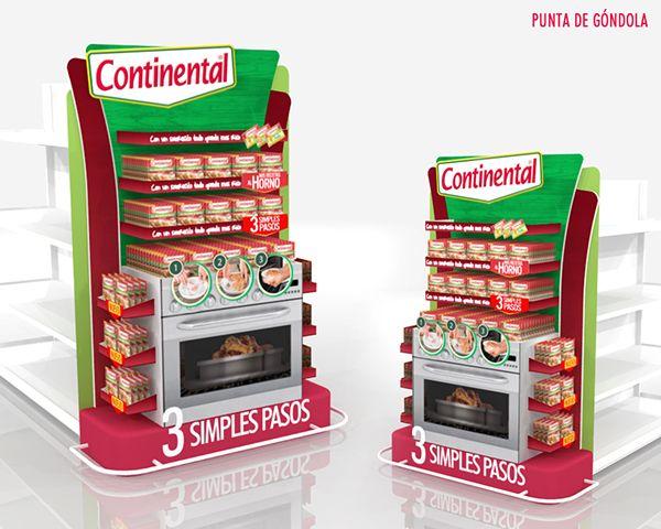 Línea de exhibidores para campaña Continental on Behance