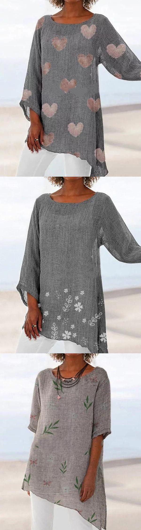 Venda quente! Blusas de verão impressas em tamanho grande para mulheres