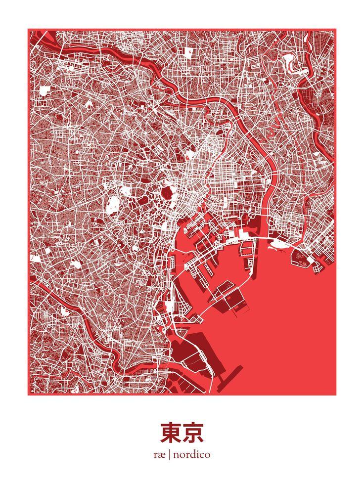 Tokyo, Japan Map Print