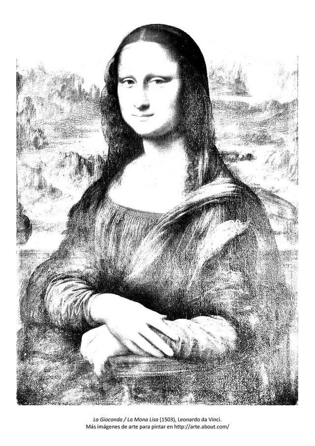 Para pintar: La Gioconda | Pintar | Pinterest | Mona lisa, Lisa y ...