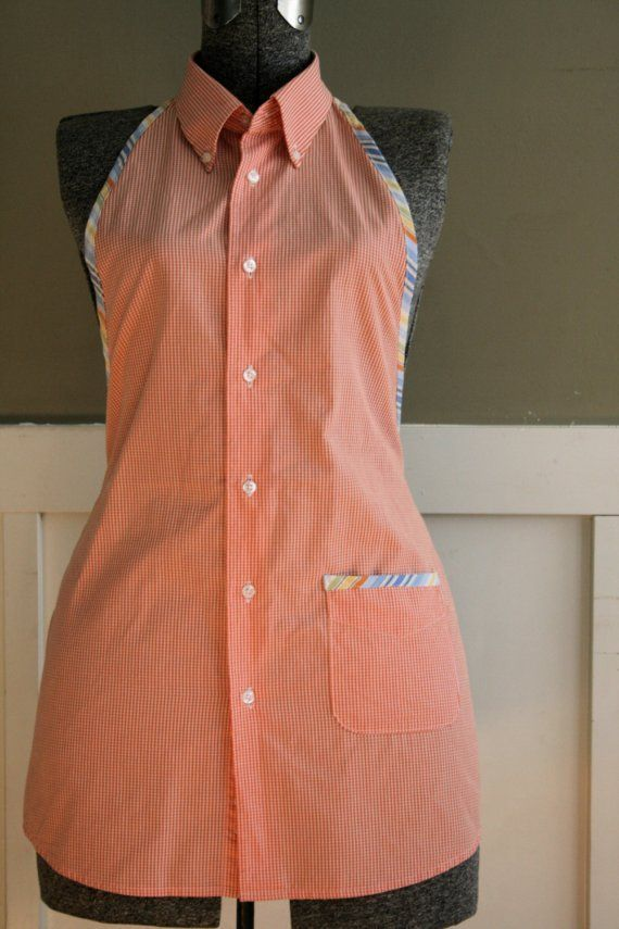 Mens shirt to apron