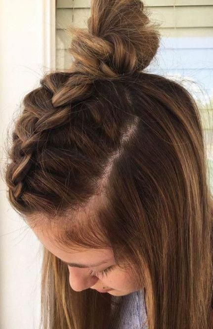 Best Hairstyles For Medium Length Hair For School Hairdos Ideas #hair #hairstyle...