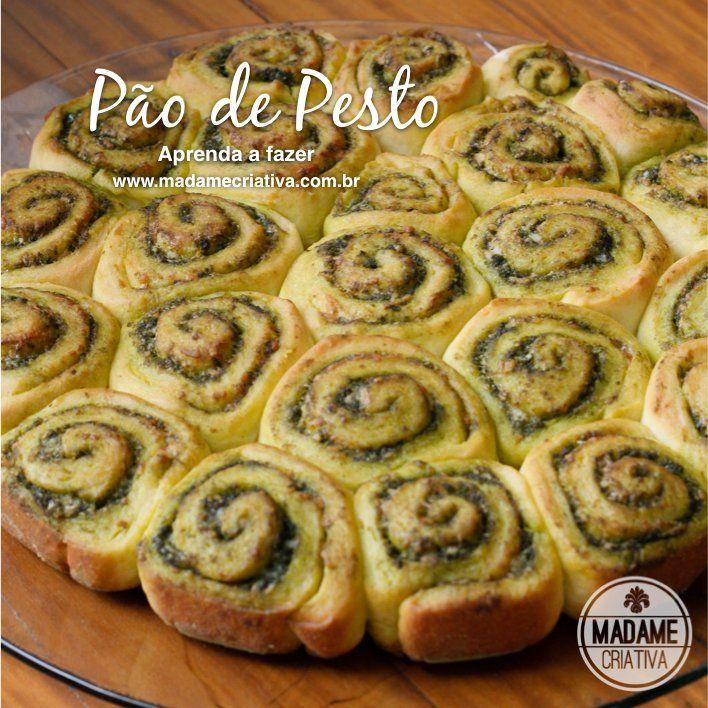 Receita pão de pesto -  Dicas de como fazer - Passo a passo com fotos - Tutorial with pictures - how to make pesto bread  - DIY  - Madame Cr...