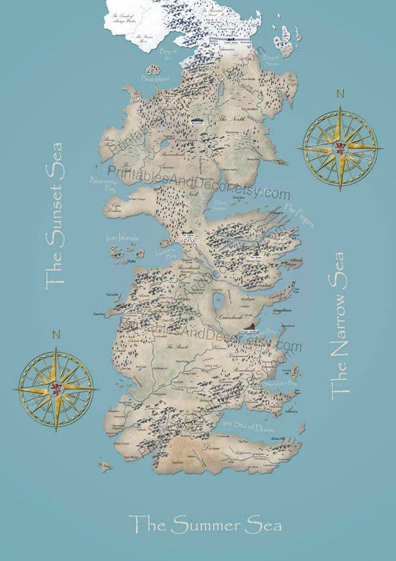 picture regarding Printable Map of Westeros referred to as Westeros Map Printable Sport of Thrones Map of Westeros
