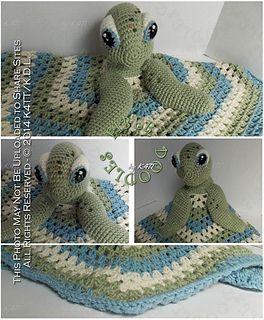 CROCHET PATTERN - Sea Turtle lovey crochet pattern