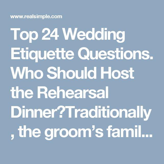 Top 24 Wedding Etiquette Questions