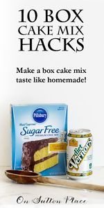 Box Cake Mix Hacks | 10 simple ways to make a box cake mix taste homemade. You won't believe how easy these are!