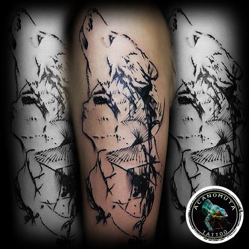 Abstract wolf design..απο τις καλυτερες ιδεες για το νεο σας τατουαζ by Acanomuta tattoo το καλυτερο τατουαζ στουντιο στην Αθηνα
