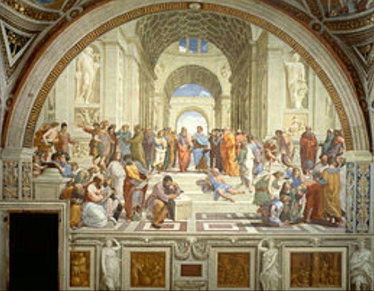 L'école d'Athènes, Raphaël  5m x 7,7 m Peinture