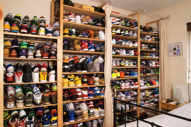 Extreme sneaker storage solutions nike adidas reebok for my son pinterest sneaker - Types of shoe storage solutions for the bedroom ...