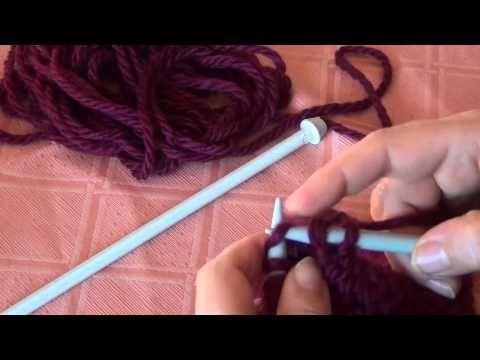 Come eseguire velocemente la maglia tubolare - YouTube - meraviglioso per me che non so usare il gioco di ferri!!!