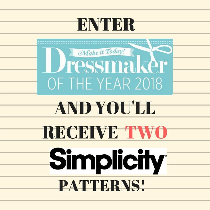 There's still time to enter the Dressmaker of the Year awards! Just follow the link and enter your make for your chance to win an array of stitchy prizes from Janome Sewing Machines, Fiskars, Adjustoform, Hobbycraft and many more dressmaking delights! https://www.makeittoday.co.uk/dressmakeroftheyear/