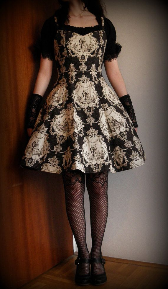 Made to measure lolita JSK classic Rococo print A line dress