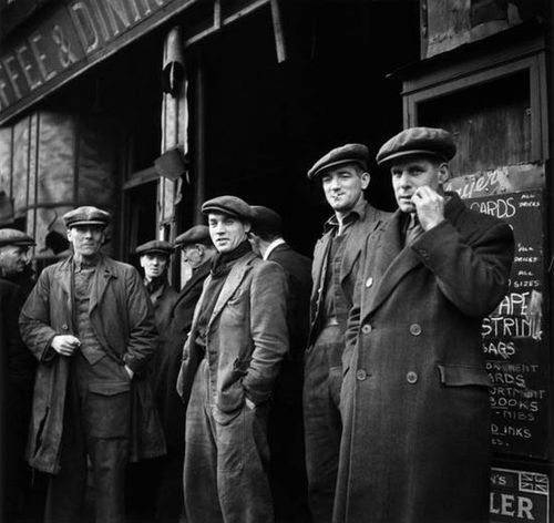 Longshoremen, Storefront, Port of London, 1946.