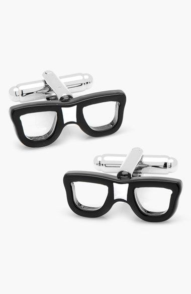 Hipster or nerd? Cute glasses cuff links http://rstyle.me/n/ut3xdnyg6