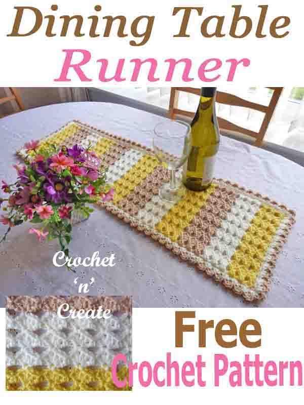 Crochet Dining Table Runner Crochet Patterns Crochet Crochet