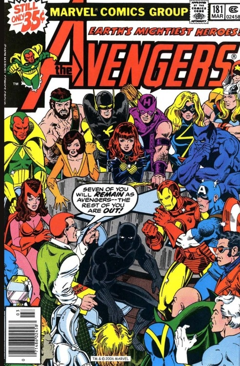 Avengers #181, march 1979, cover by George Perez and Terry Austin. This was my first comic book ever ; The one that changed my life forever