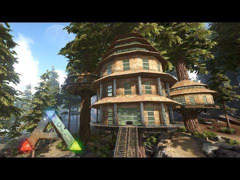 Ark The Island Round Treehouses Speed Build Youtube In 2020 Ark Survival Evolved Bases Ark Survival Evolved Ark