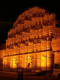 Hawa Mahal, Fort, its latticed windows and stone screen add charm in it. Hawa Mahal was built by Sawai Pratap Singh.