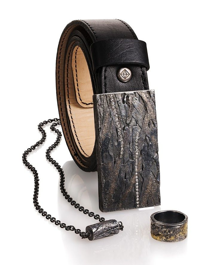 Todd Reed Jewelry, Mens Jewelry, Mens Designer Jewelry, Mens Leather Belt, Mens Diamond Belt, Mens Ring, Patina Mens Jewelry, Mens Necklace, Mens Black Diamond Ring, Mens Black Diamond Necklace, Modern, Street Style