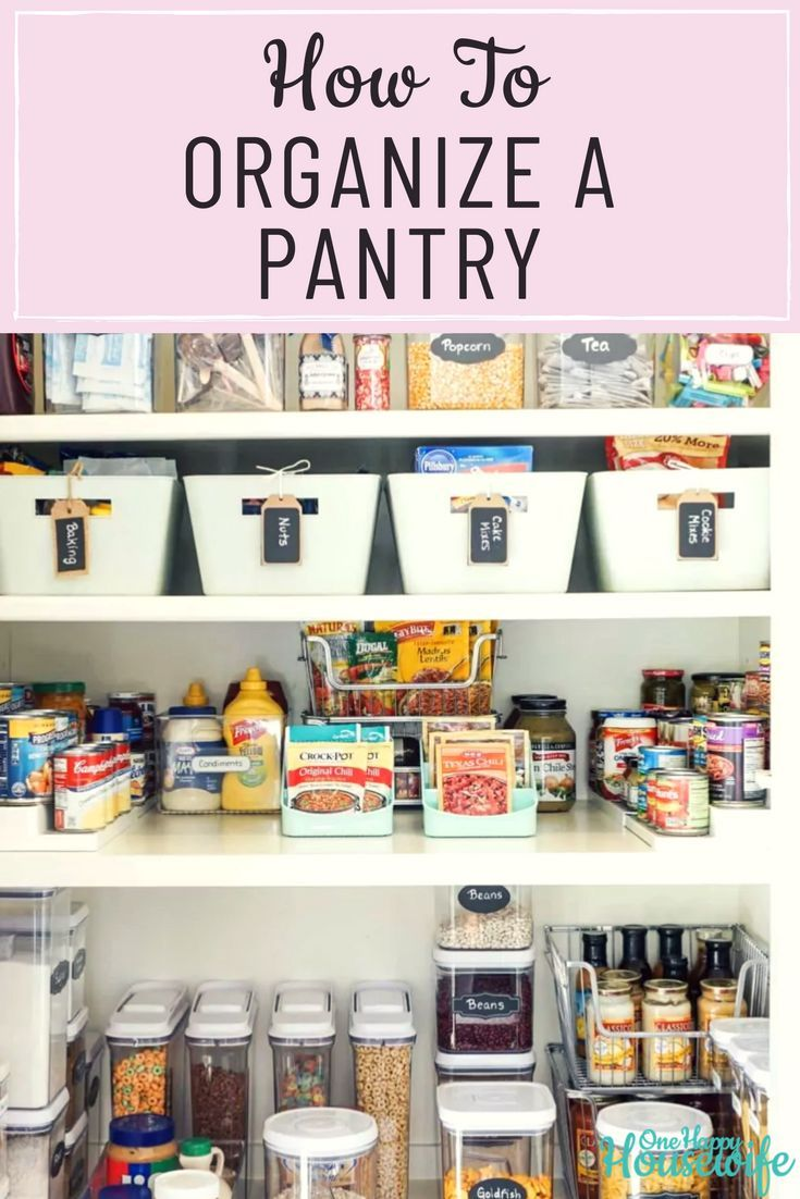 How To Organize A Pantry Food Pantry Organizing Pantry