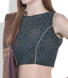 Buy dark green cotton blouse blouse online