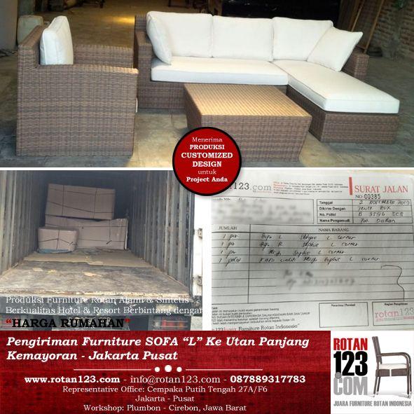 Produksi Delivery Sofa L Rotan123 Sofa L Furniture Sofa