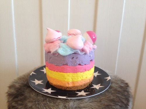 Unicorn Cheesecake || onlyonesmallcookie.tumblr.com