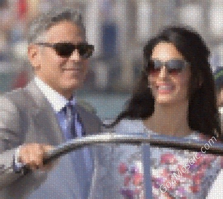 George Clooney and Amal Alamuddin mosaic from Wooden Jigsaw - Go4mosaic Blog - Easy to use! - No software download needed! - No registration required! - FREE Mosaics up to 4000px! www.go4mosaic.com