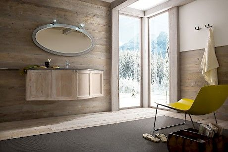"""Diamante DM5   Compab. Structure 251 natural spruce. Doors 251 natural spruce Under-counter washbasin in ceramic """"MINI"""". Marble top i-light grey."""