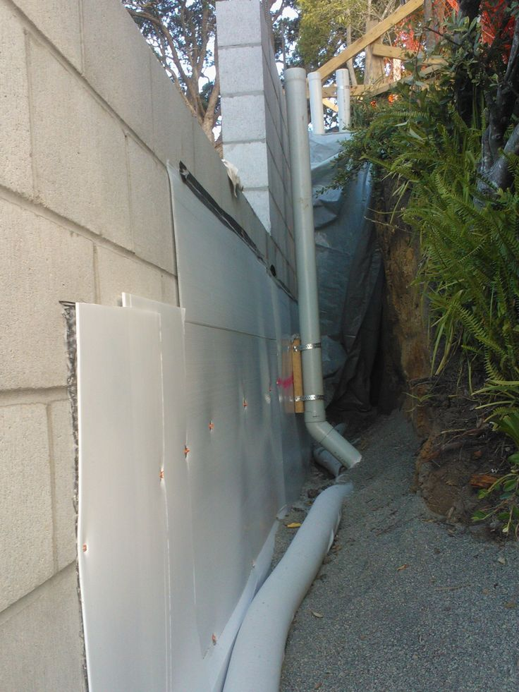 126 best images about retaining wall on pinterest for Wall drainage system