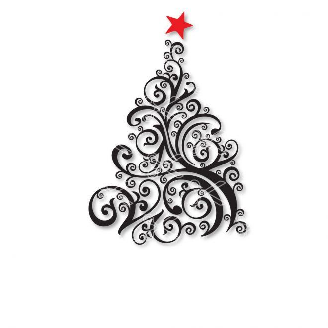 Download Christmas tree SVG DXF (With images) | Tree svg, Christmas ...