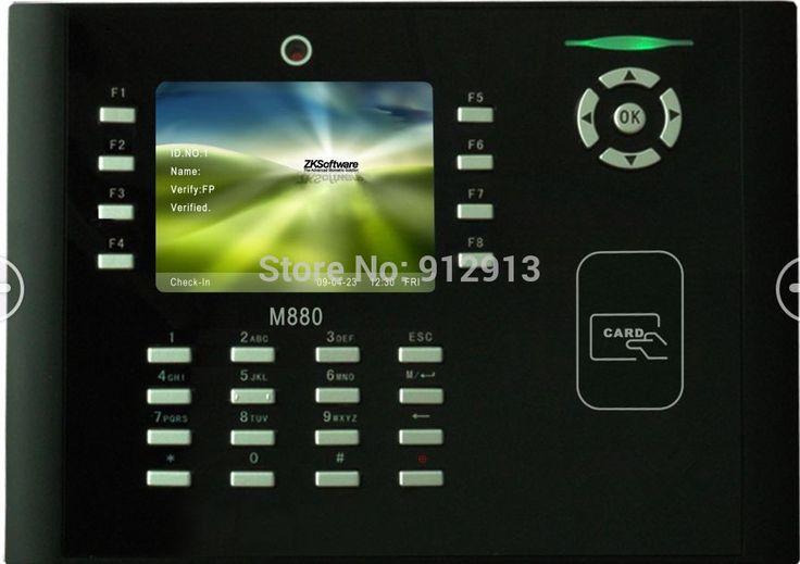 КО-M880 Бесплатный SDK Цветной Экран RFID Карты Посещаемость Времени